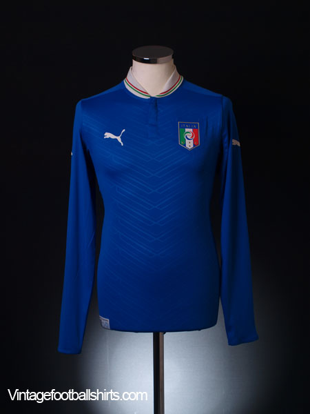 2012-13 Italy Home Shirt L/S *As New* S