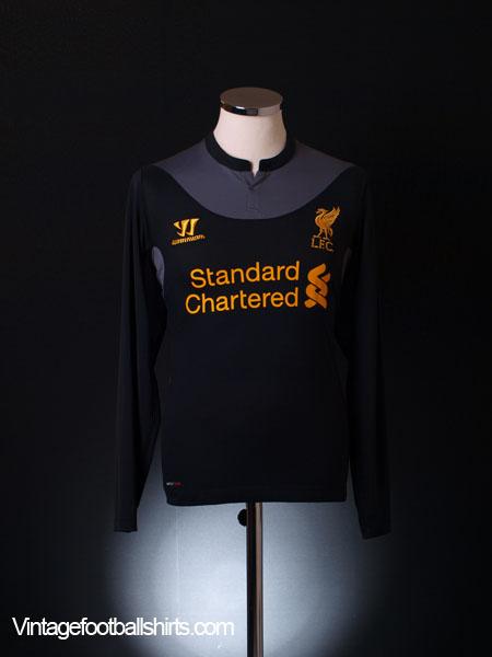 2012-13 Liverpool Away Shirt L/S S
