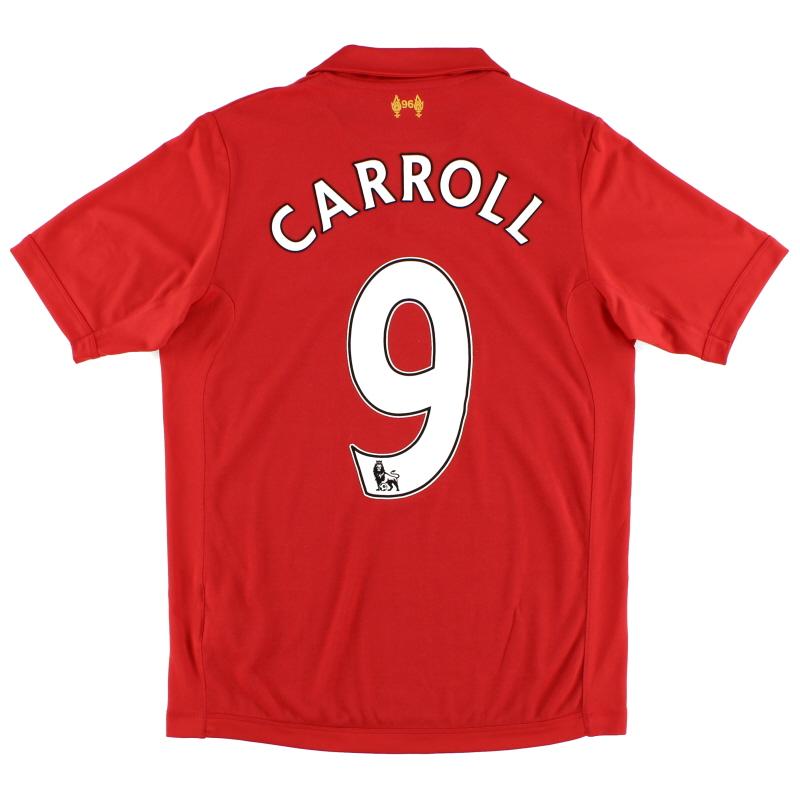 2012-13 Liverpool Warrior Home Shirt Carroll #9 S