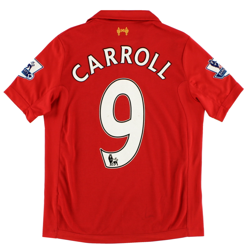 2012-13 Liverpool Home Shirt Carroll #9 L.Boys - WSTJ200
