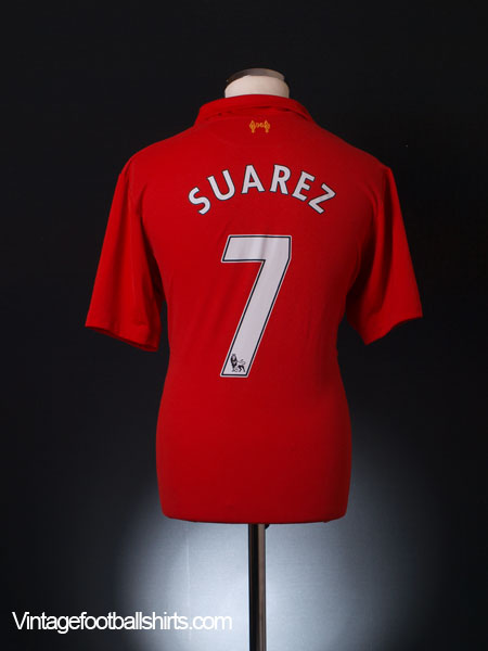 2012-13 Liverpool Home Shirt Suarez #7 XL