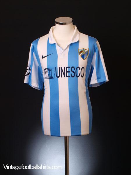 2012-13 Malaga Champions League Home Shirt XXL