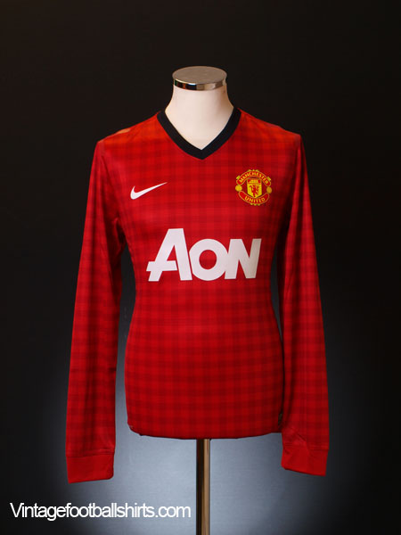 2012-13 Manchester United Domestic Player Issue Home Shirt L/S *BNWT*
