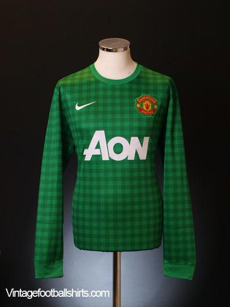 2012-13 Manchester United Goalkeeper Shirt *Mint* XL