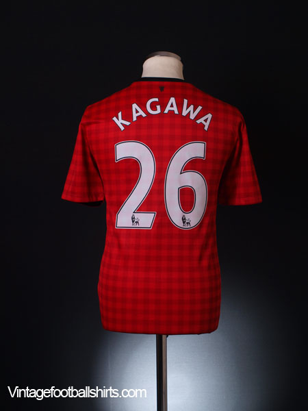 2012-13 Manchester United Home Shirt Kagawa #26 *Mint* M