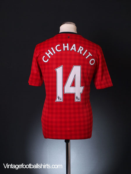 2012-13 Manchester United Home Shirt Chicharito #14 M