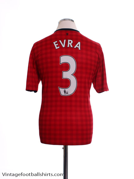 2012-13 Manchester United Home Shirt Evra #3 M