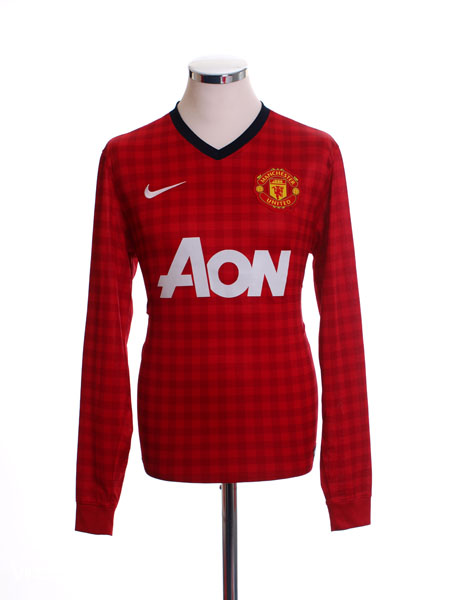 2012-13 Manchester United Home Shirt L/S M