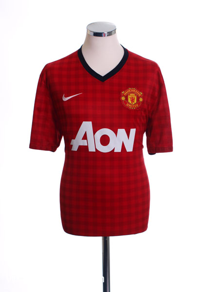 2012-13 Manchester United Home Shirt L.Boys