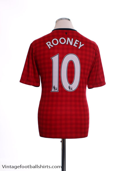 2012-13 Manchester United Home Shirt Rooney #10 L - 479278-623