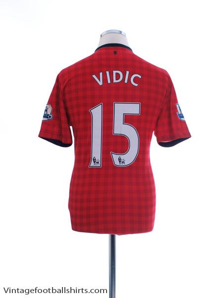 2012-13 Manchester United Home Shirt Vidic #15 M - 479278-623