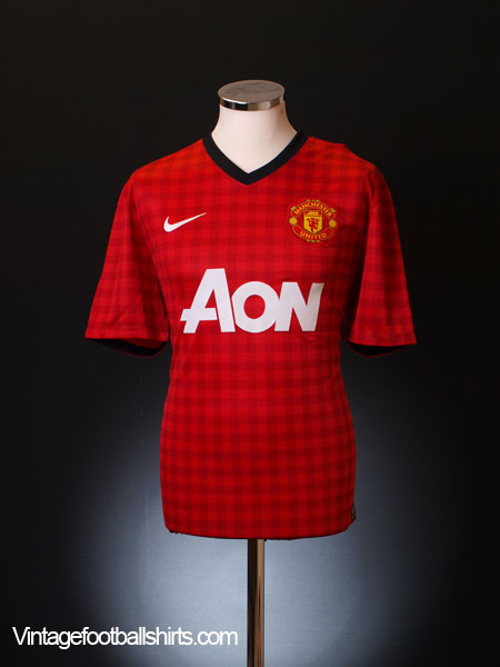 2012-13 Manchester United Home Shirt S