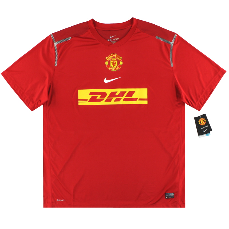 2012-13 Manchester United Nike Player Issue Pre-Match Shirt *w/tags* XXL - 449513-601