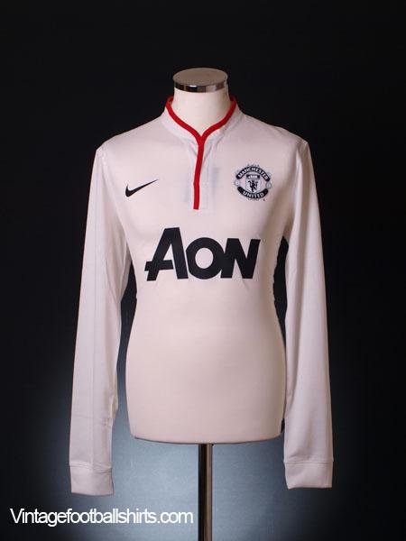 2012-14 Manchester United Away Shirt L/S XL