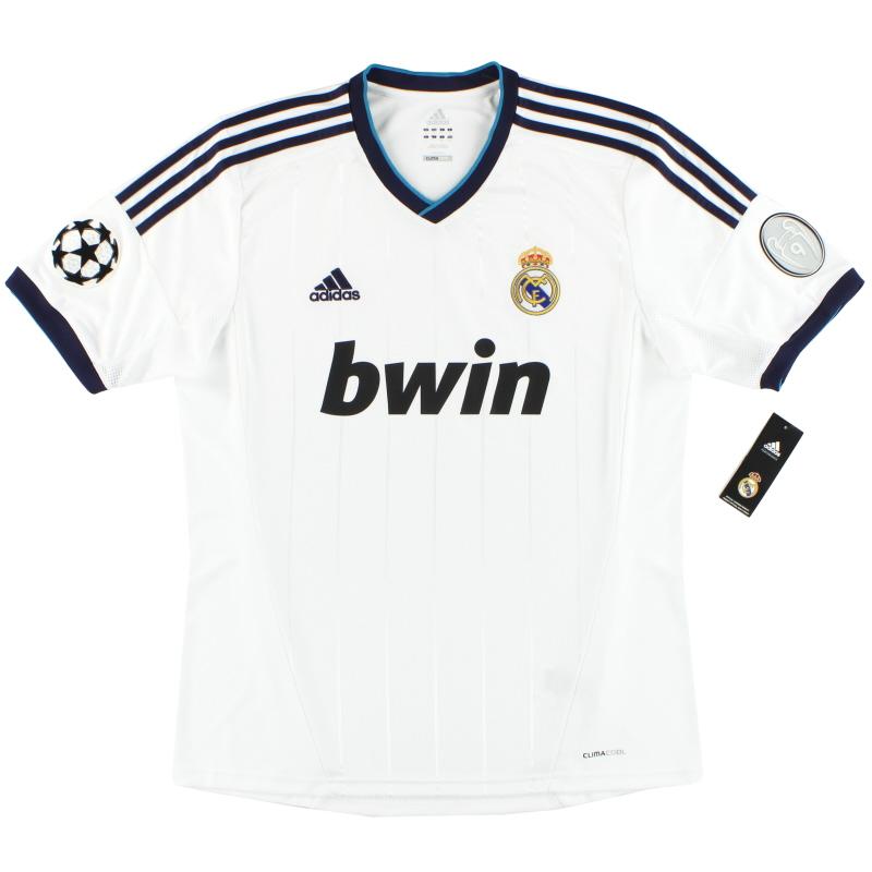 2012-13 Real Madrid adidas Champions League Home Shirt *BNIB* - W41768