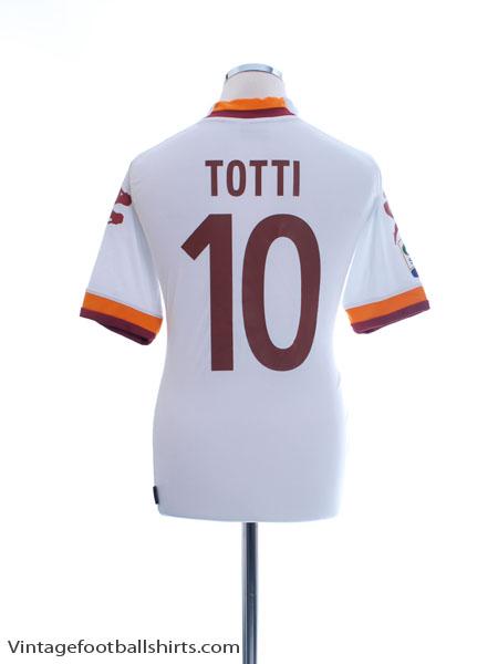 2012-13 Roma Away Shirt Totti #10 M