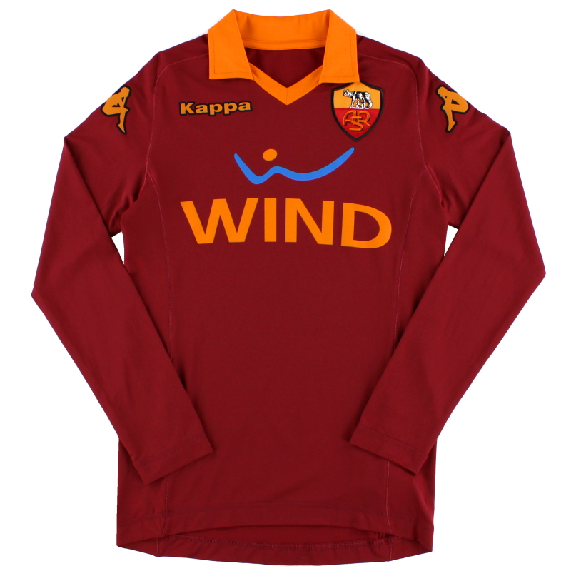 2012-13 Roma Kappa Home Shirt L/S *Mint* S