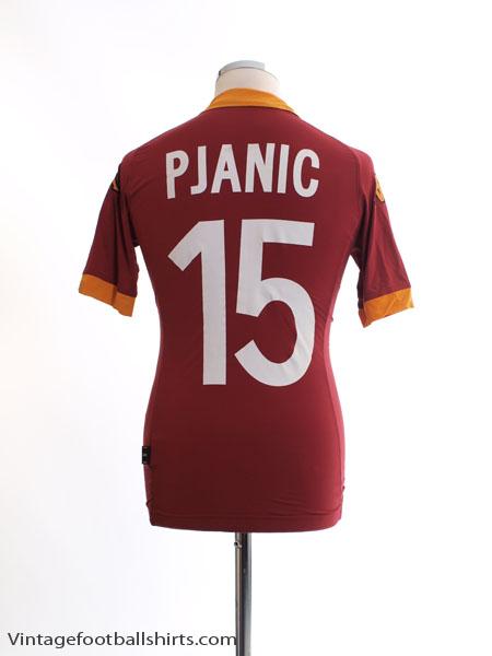 2012-13 Roma Home Shirt Pjanic #15 S