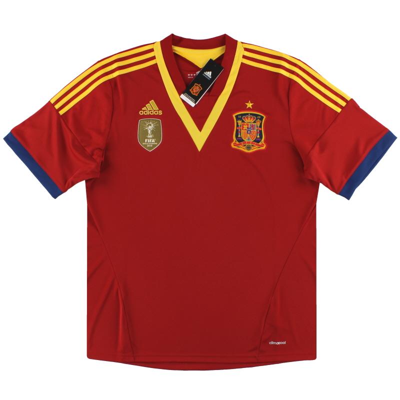 2012-13 Spain adidas Home Shirt *BNIB* S - X53272