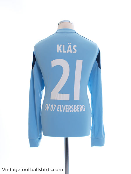 2012-13 SV Elversberg Match Issue Goalkeeper Shirt Klas #21 L/S L - X19707