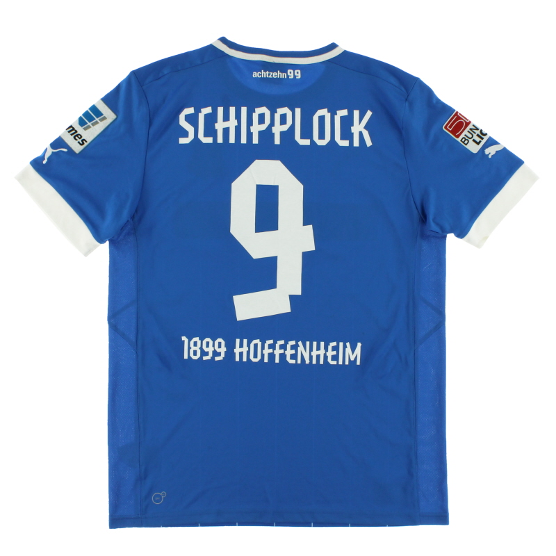2012-13 TSG Hoffenheim Player Issue Home Shirt Schipplock #9 L - 741204