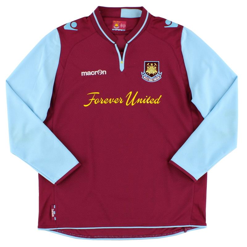 2012-13 West Ham Home Shirt L/S XL.Boys