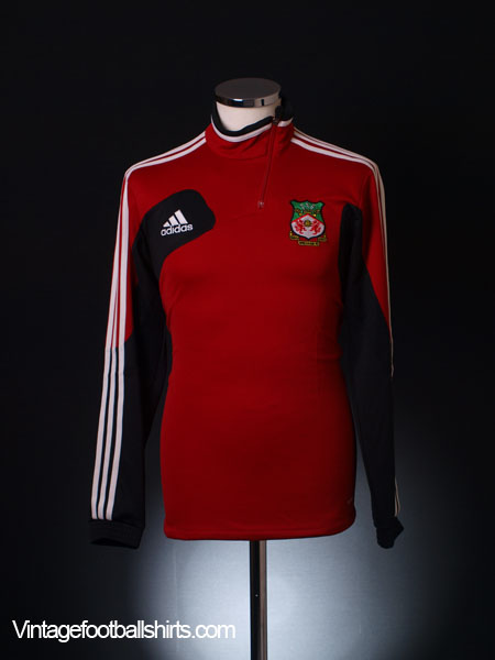 2012-13 Wrexham adidas 1/2 Zip Training Top S