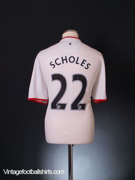 2012-14 Manchester United Away Shirt Scholes #22 XL