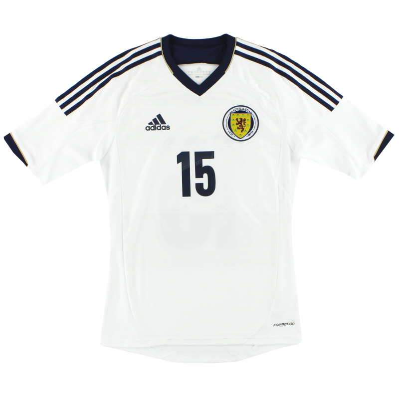 2012-14 Scotland adidas Formotion Player Issue Away Shirt #15 *As New* S - X11770