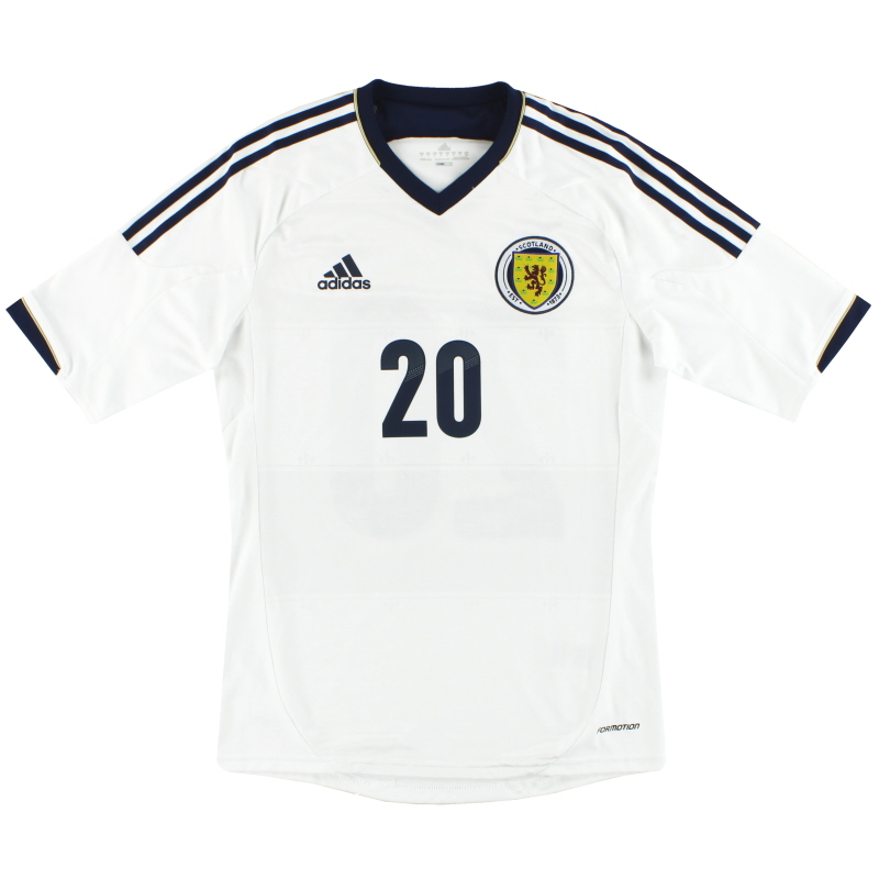 2012-14 Scotland adidas Formotion Player Issue Away Shirt #20 *As New* M - X11770