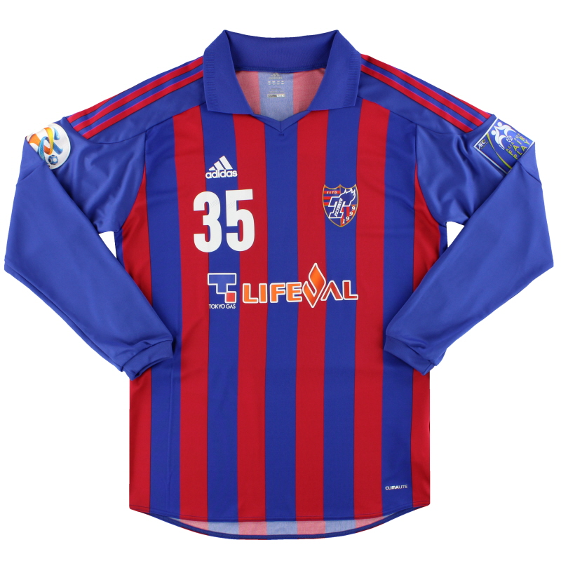 2012 FC Tokyo adidas Match Issue ACL Home Shirt Shimoda #35 L/S L - O15756