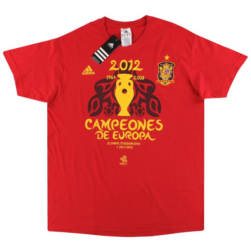 2012 Spain adidas 'Campeones De Europa' T-Shirt *BNIB* - Z65903