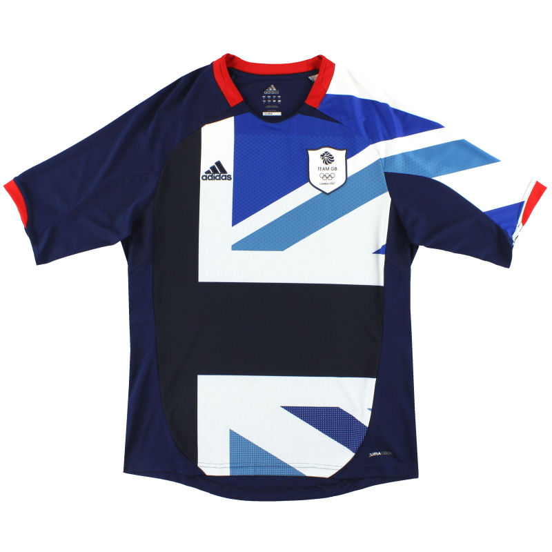 almohadilla hipocresía pensión  2012 Team GB adidas Olympic Home Shirt L for sale