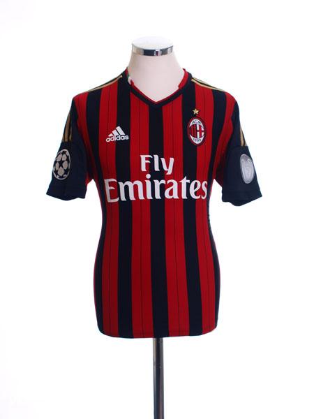 2013-14 AC Milan Formotion CL Home Shirt *Mint* M
