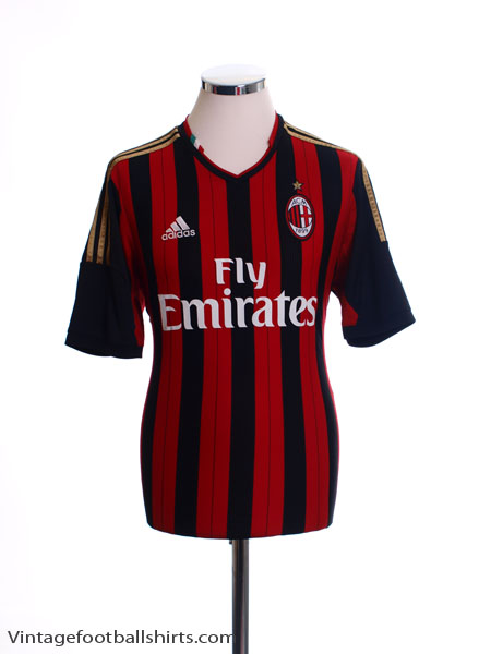 2013-14 AC Milan Home Shirt *Mint* XL