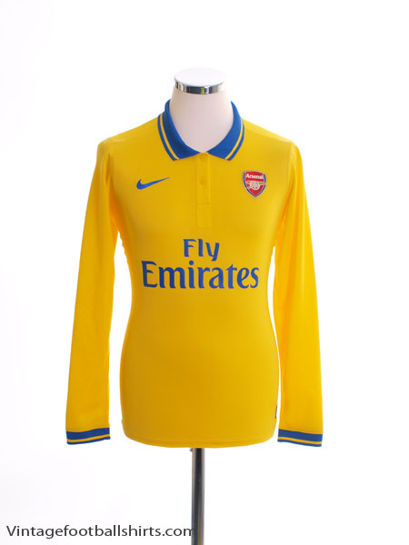 2013-14 Arsenal Player Issue Away Shirt L/S M