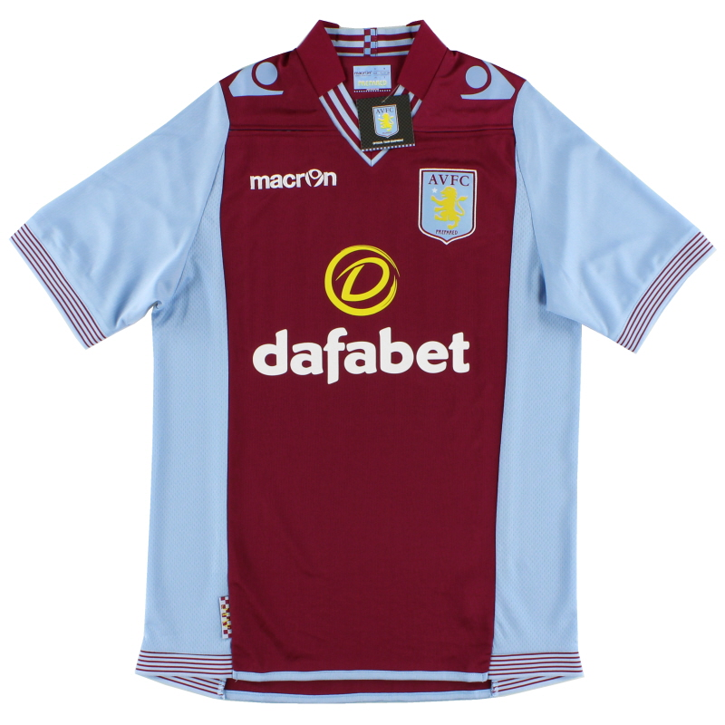 2013-14 Aston Villa Macron Home Shirt *BNIB* XXL - 910007