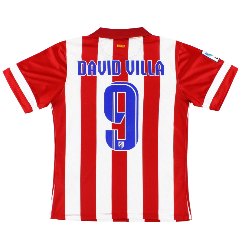 2013-14 Atletico Madrid 'Authentic' Home Shirt David Villa #9 M