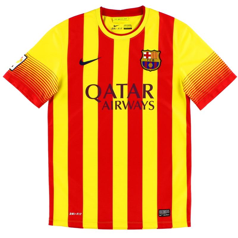2013-14 Barcelona Nike Away Shirt S - 532823-703