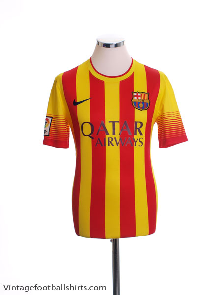 2013-14 Barcelona Away Shirt L