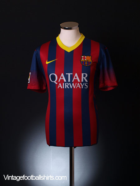 2013-14 Barcelona Home Shirt L