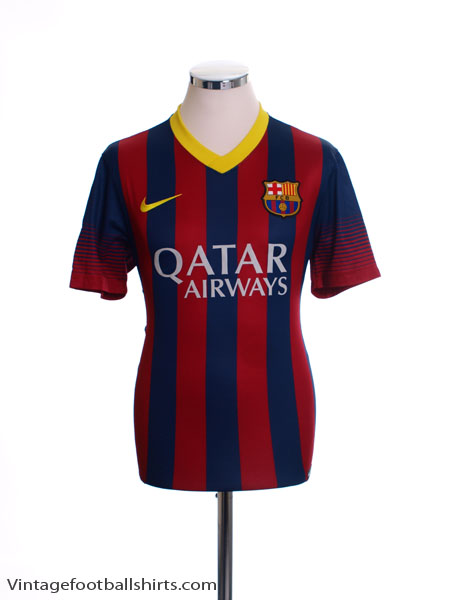 2013-14 Barcelona Home Shirt *Mint* L