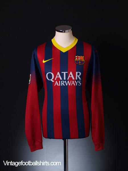 2013-14 Barcelona Home Shirt L/S L
