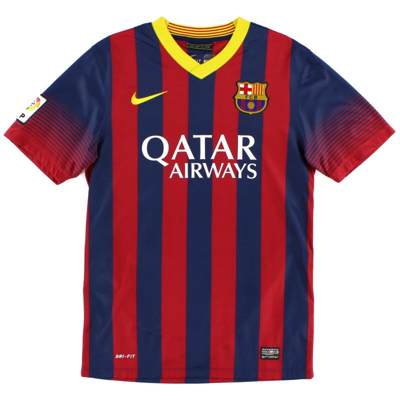 2013-14 Barcelona Home Shirt L.Boys