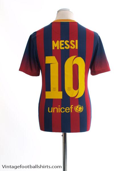 2013-14 Barcelona Home Shirt Messi #10 S