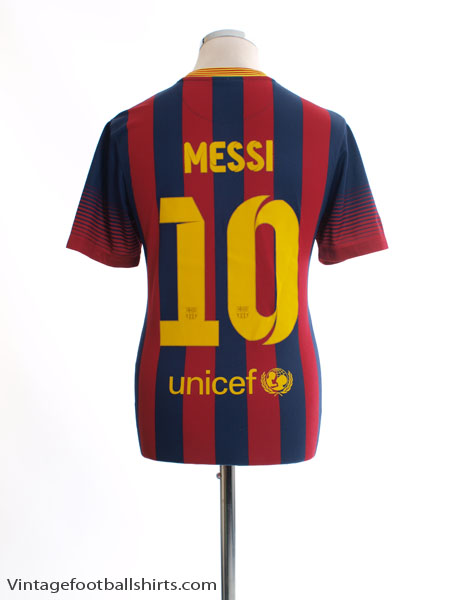2013-14 Barcelona Home Shirt Messi #10 M - 532822-413
