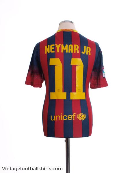 2013-14 Barcelona Home Shirt Neymar Jr #11 M