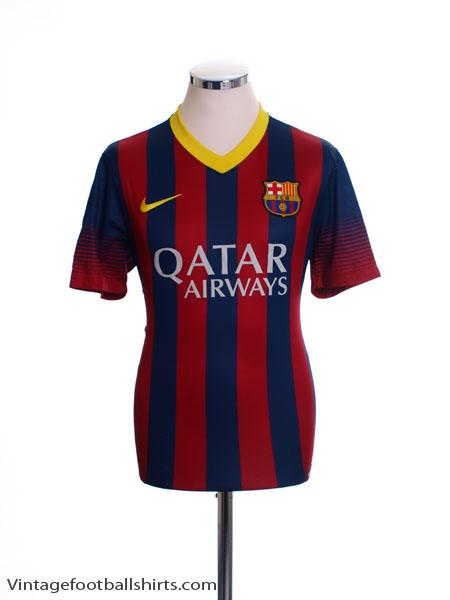 2013-14 Barcelona Home Shirt XL