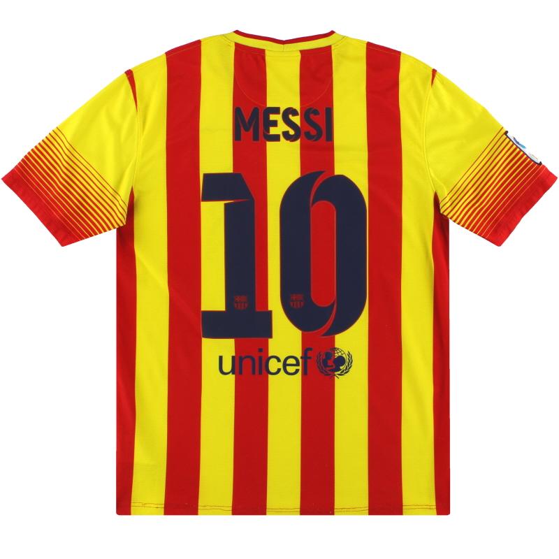2013-14 Barcelona Nike Away Shirt Messi #10 M - 532823-703