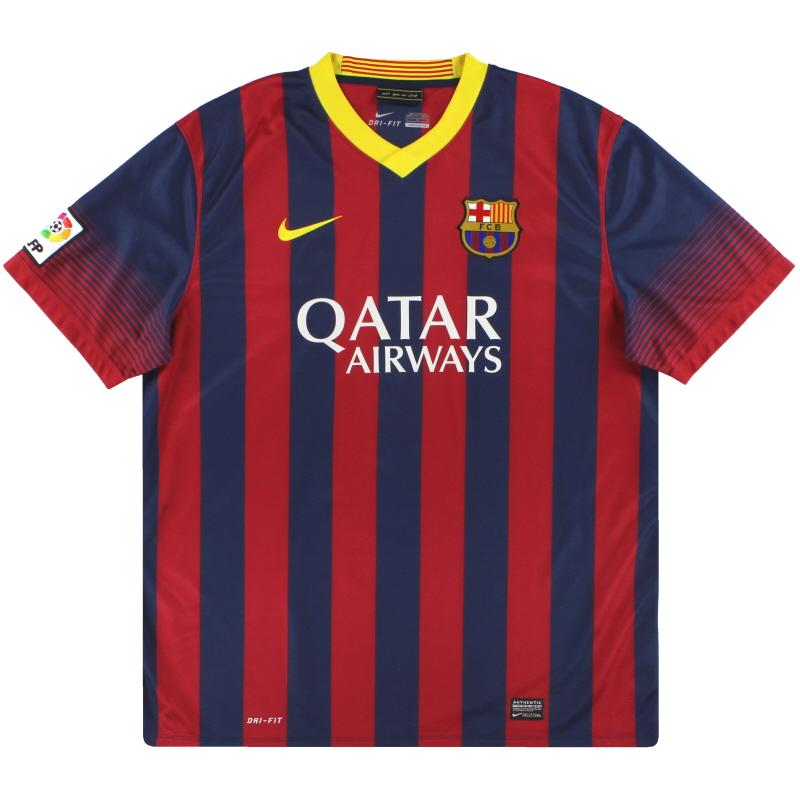 2013-14 Barcelona Nike Home Shirt XL - 532822-413
